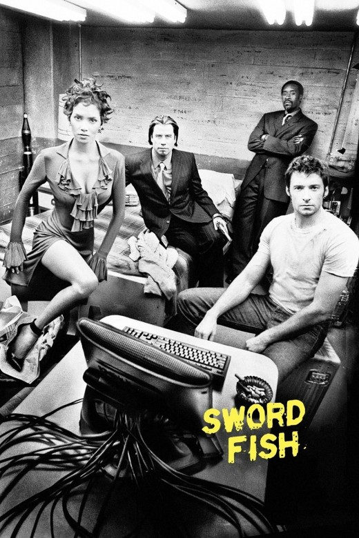 "Promotional poster for ""Swordfish"""