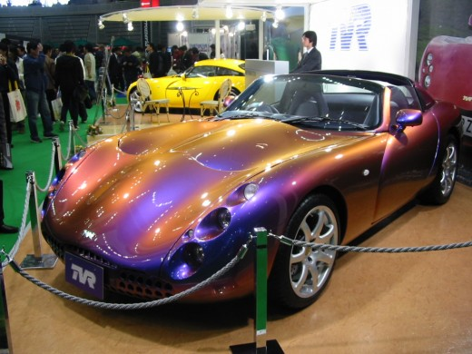 The TVR Tuscan, used in the film to great effect