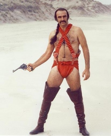 Let this image set the theme for the rest of the hub. And yes, that is a buff Sean Connery wearing nothing but some oddly coloured pieces of cloth and leather. God save the queen indeed