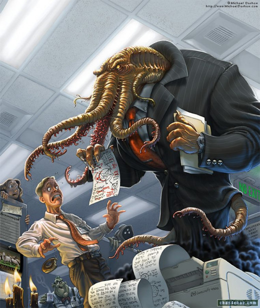 Your boss will never be as cool as Cthulhu, though.