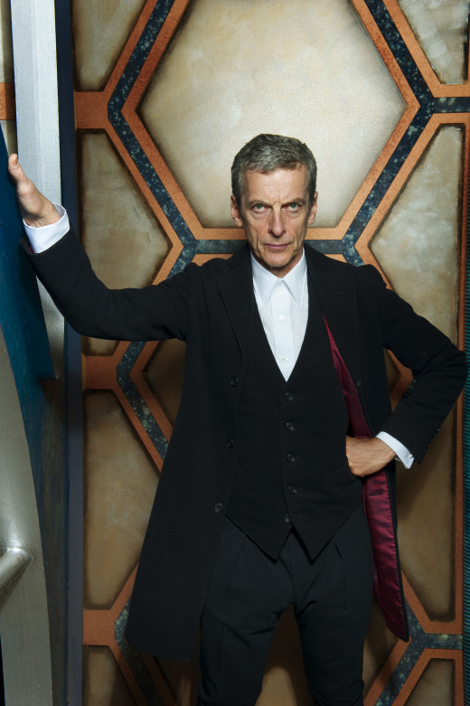 Peter Capaldi as the 12th Doctor, inside the TARDIS