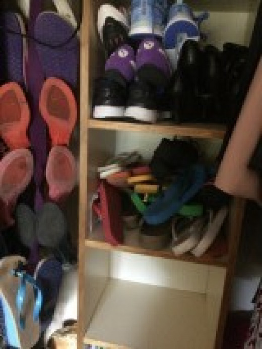 My shoe collection only half of it