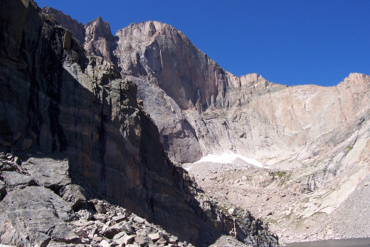 View of Longs Peak from Chasm Lake