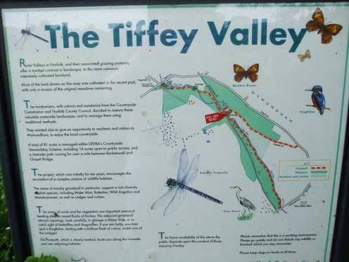 A sign showing the Tiffey Valley