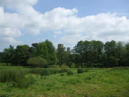 Wymondham Abbey from the Tiffey Valley