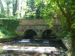 A small bridge on Church Lane, Wymondham. The river is the Tiffey