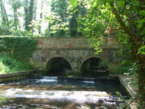 A small bridge on Church Lane, Wymondham. The river is the Tiffey
