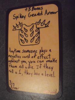 Custom Card Ideas: The Spiky Armor