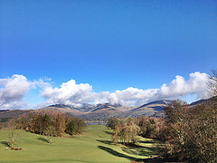 The front view from Wray Castle