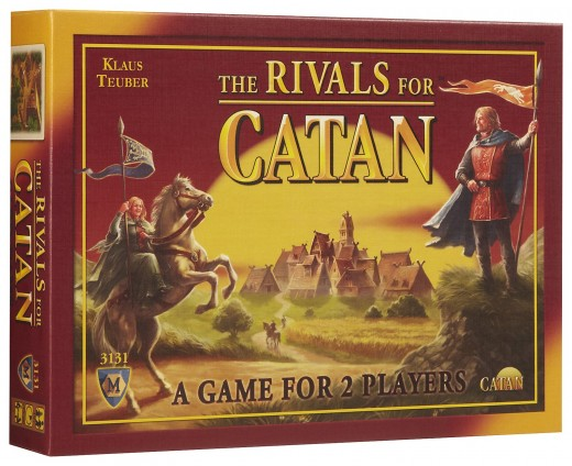The box art for The Rivals for Catan.