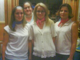 We were dressed up in the 50's for nursing home week for the patients.
