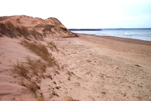 Cavendish Beach is a short distance away from Green Gables
