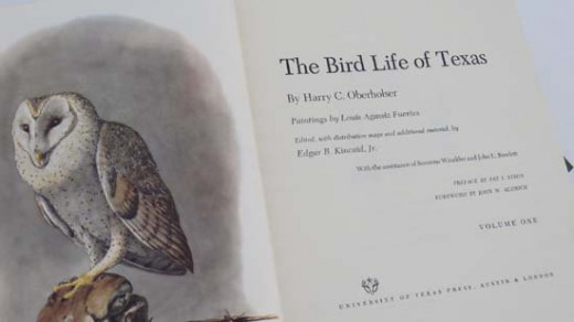 The Bird Life of Texas (University of Texas Press), is out of print, but can be found on Ebay and other on-line book sellers.