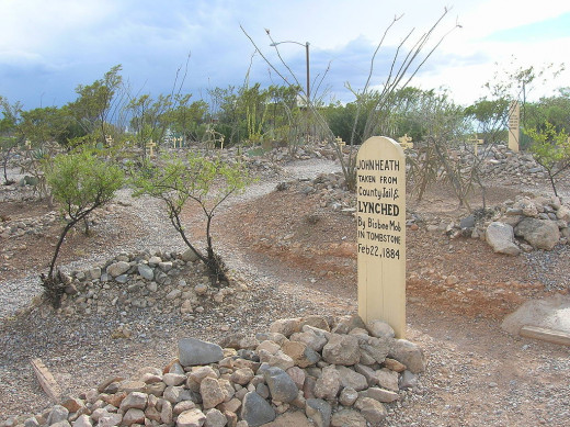 Boot Hill in Tombstone, Arizona.