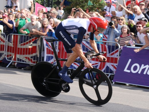 Bradley Wigging enroute to Olympic Gold at London 2012
