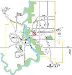 Map of Lethbridge