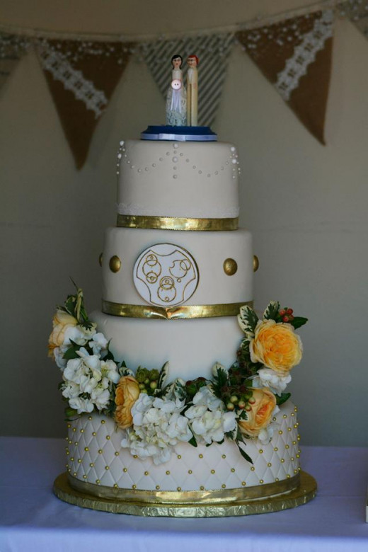 Our wedding cake that we got on a budget!