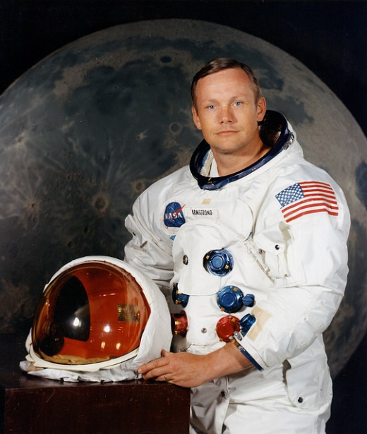 Neal Armstrong, the first man on the moon (1969).