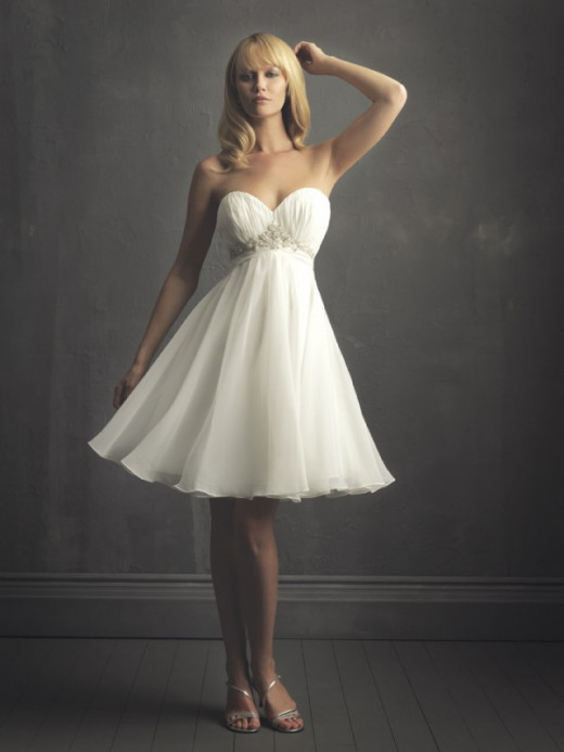 Short informal wedding gown