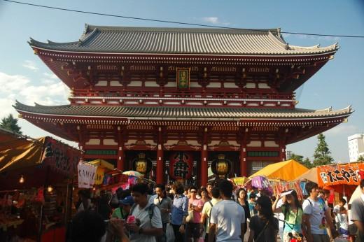 Shrine at Asakusa Tokyo Japan