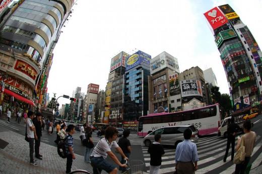 Street view Shinjuku Tokyo Japan