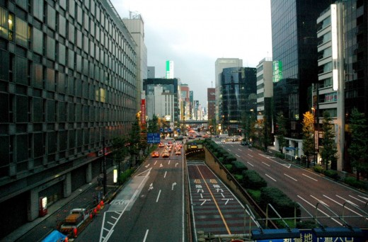 Street View Ginza Tokyo Japan