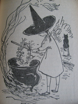 Rosemary using the Witch's Hat