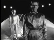 The Day the Earth Stood Still.  Klaatu delivers his message.