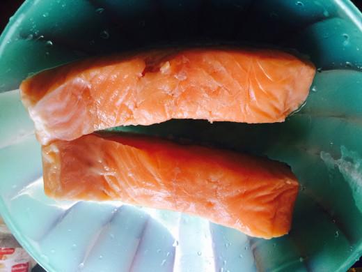Wild caught salmon fillets