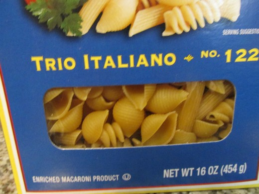 The pasta I used.