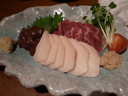 Raw Horse Meat Sushi Japan