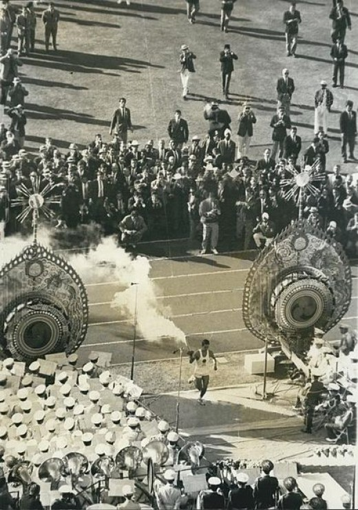Opening Ceremonies at the 1964 Summer Olympic Games