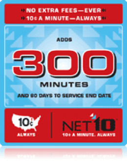 NET10 Plan with 300 Minutes and 60 days
