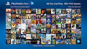 Choose from 100's of games to stream to your PS4
