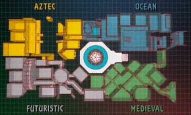 The Crystal Maze Map (Series 4-6)