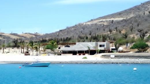 The palapa at Bahia de los Muertos...