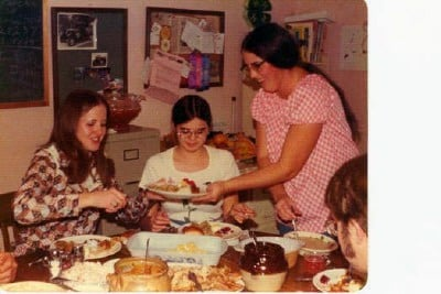 This photo from 1975 from our family album brings back many memories of family holiday meals.