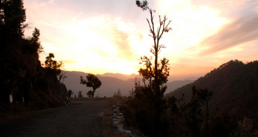 A mesmerizing view of dusk from Mukteshwar