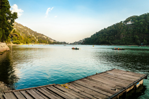 Emerald green lake of Nainital