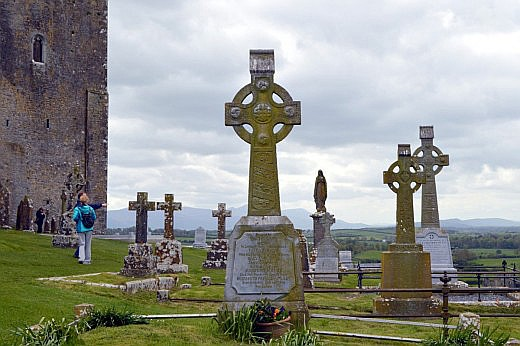 The solemn Cashel cemetery has the remains of residents going back many centuries.