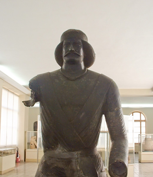 A bronze statue of Parthian nobleman found at Shami, modern Khuzestan, Iran. Suren might have looked like this.