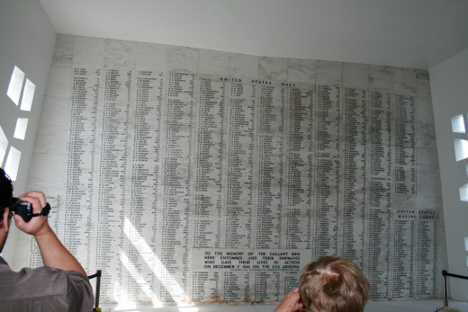 The names of all the crewmen that died that horrific day never to forget.