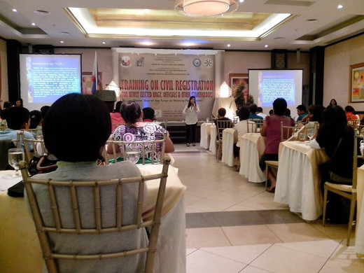 My seminar on Civil Registration, dated August 21-22, 2014 @ Avenue Hotel, Naga City, Camarines Sur, Philippines