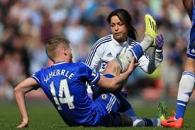 Eva Carneiro doing what she does best
