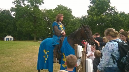 horsemen at Warwick Castle