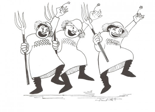 Cartoons-Three-happy-Peasants-Mcmaster