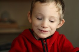 A child who has autism