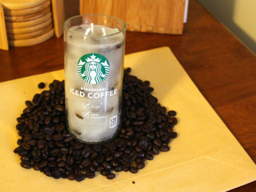 Starbucks iced coffee candle