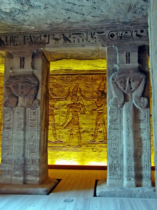 The Temple of Hathor.
