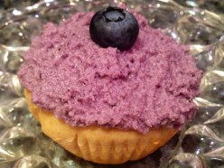 Kefir Cupcakes with Blueberry Mascarpone Frosting